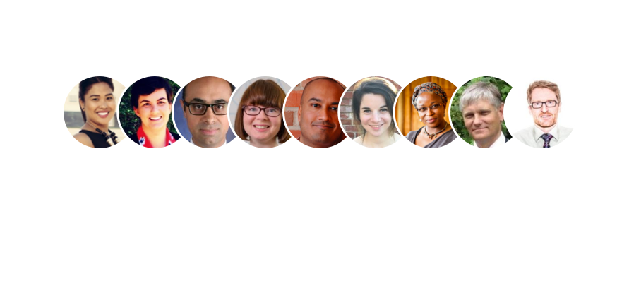 map with faces of network members